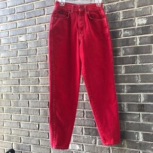 Red Vintage Chic jeans. Size 10